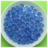 6 мм. 100 шт. Голубой прозрачный цвет. Бусинки круглые с огранкой стеклярус № 17