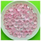 6 мм. 100 шт. Розовый прозрачный цвет. Бусинки круглые с огранкой стеклярус № 22