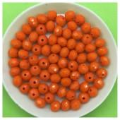 6 мм. 100 шт. Оранжевый цвет. Бусинки круглые с огранкой стеклярус № 24