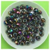 6 мм. 100 шт. Фиолетовый хамелеон цвет. Бусинки круглые с огранкой стеклярус № 25