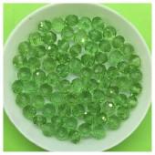6 мм. 100 шт.  Зеленый прозрачный цвет. Бусинки круглые с огранкой стеклярус № 7