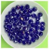 6 мм. 100 шт. Синий-фиолетовый хамелеон цвет. Бусинки круглые с огранкой стеклярус № 9