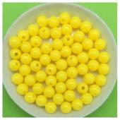 6 мм. 50 гр. Желтый цвет. Цветные бусинки № 2.   050