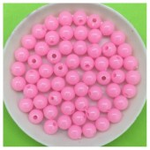 6 мм. 50 гр. Розовый цвет. Цветные бусинки № 3.   050