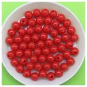 6 мм. 50 гр. Красный цвет. Цветные бусинки № 4.   050