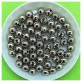 6 мм. 50 гр. Серебро цвет. Цветные бусинки № 9.   050