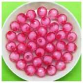 8 мм. 50 гр. Розовый полупрозрачный цвет. Бусинки резка Пришивные № 2.  055