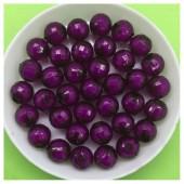 8 мм. 50 гр. Фиолетовый полупрозрачный цвет. Бусинки резка Пришивные № 6.  055