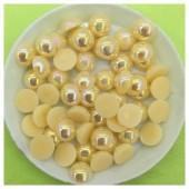 № 8. Желтый хамелеон цвет. Бусинки клеевые 150 шт. № 2