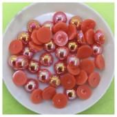№ 8. Оранжевый хамелеон цвет. Бусинки клеевые 150 шт. № 3