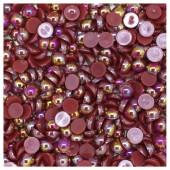 № 8. Красно-коричневый хамелеон цвет. Бусинки клеевые 3500 шт. № 8