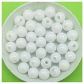 8 мм. 50 гр. Белый цвет. Цветные бусинки № 1.   050