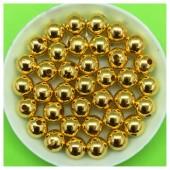 8 мм. 50 гр. Золотой цвет. Цветные бусинки № 10.   050
