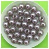 8 мм. 50 гр. Серый цвет. Цветные бусинки № 13.   050