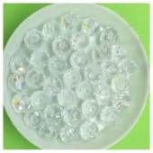 8 мм. 70  шт. Белый хамелеон цвет. Бусинки круглые с огранкой стеклярус № 1