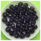 8 мм. 70 шт. Фиолетовый цвет. Бусинки круглые с огранкой стеклярус № 13
