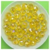 8 мм. 70 шт. Желтый хамелеон цвет. Бусинки круглые с огранкой стеклярус № 18