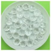 8 мм. 70 шт. Белый прозрачный цвет. Бусинки круглые с огранкой стеклярус № 20