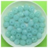 8 мм. 70 шт. Бледно-голубой цвет. Бусинки круглые с огранкой стеклярус № 21