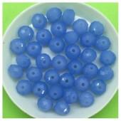 8 мм. 70  шт. Голубой матовый цвет. Бусинки круглые с огранкой стеклярус № 22