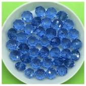 8 мм. 70 шт. Голубой прозрачный цвет. Бусинки круглые с огранкой стеклярус № 26