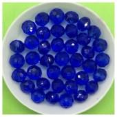 8 мм. 70 шт. Синий прозрачный цвет. Бусинки круглые с огранкой стеклярус № 27