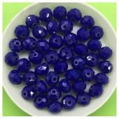 8 мм. 70 шт. Синий матовый цвет. Бусинки круглые с огранкой стеклярус № 28