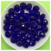 8 мм. 70 шт. Темно-синий цвет. Бусинки круглые с огранкой стеклярус № 29