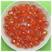 8 мм. 70 шт. Оранжевый хамелеон цвет. Бусинки круглые с огранкой стеклярус № 31