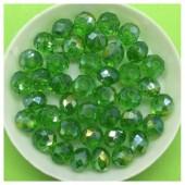 8 мм. 70 шт. Зеленый хамелеон цвет. Бусинки круглые с огранкой стеклярус № 35