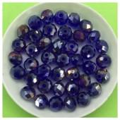8 мм. 70 шт. Фиолетово-синий хамелеон цвет. Бусинки круглые с огранкой стеклярус № 39