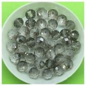 8 мм. 70 шт. Серый прозрачный цвет. Бусинки круглые с огранкой стеклярус № 44