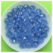 8 мм. 70 шт. Голубой хамелеон цвет. Бусинки круглые с огранкой стеклярус № 6