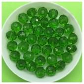 8 мм. 70 шт. Зеленый прозрачный цвет. Бусинки круглые с огранкой стеклярус № 8