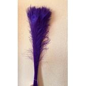 1 шт. Фиолетовый цвет. Перо павлина 80-90 см