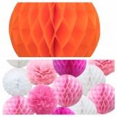 1 шт. Оранжевый цвет. Фонарики цветные. Размер 10 см.