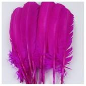 1 шт. Фуксия цвет. Гусиное перо 25-30 см