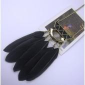 09107. Черный цвет. Подвеска с перьями