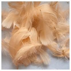 100 шт. Персик цвет. Гусиное перо 4-9 см. Плавающее