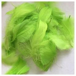 100 шт. Салатовый цвет. Гусиное перо 4-9 см. Плавающее