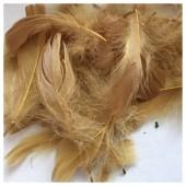 100 шт. Коричневый цвет. гусиное перо 4-9 см. Плавающее