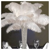 1 шт. Белый цвет. Перья страуса 50-55 см Экстра класс