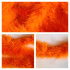 Оранжевый цвет. Боа тесьма из пуха марабу 4-5 см