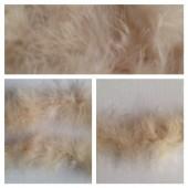 Молочный цвет. Боа тесьма из пуха марабу 4-5 см