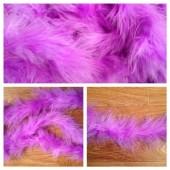 Сиреневый цвет. Боа тесьма из перьев марабу 4-5 см