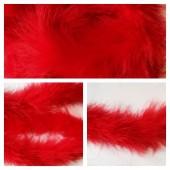 Красный цвет. Боа тесьма из пуха марабу 4-5 см