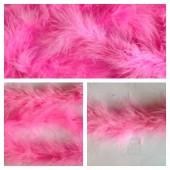 Розовый цвет. Боа тесьма из пуха марабу 4-5 см