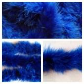 Синий цвет. Боа тесьма из пуха марабу 4-5 см