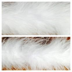 Белый цвет. Боа тесьма из пуха марабу 6-8 см