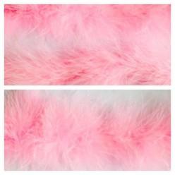 Розовый цвет. Боа тесьма из пуха марабу 6-8 см